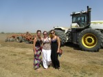 Grace, Ellen, and I by the tractor we each got to ride in